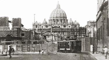 il rione Borgo in una foto d'epoca